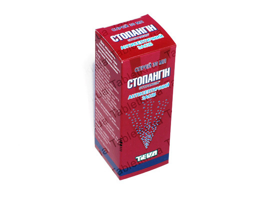 Стопангин спрей д/рот. полос. 1.92 мг/мл по 30 мл во флак.