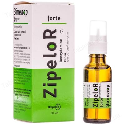 Зипелор форте спрей д/рот. полос. 3 мг/мл по 30 мл во флак.