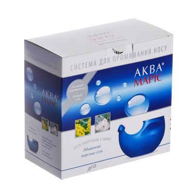 АКВА МАРИС система д/орош. носа + морская соль, обагащенная трав №30 в пак.-саше