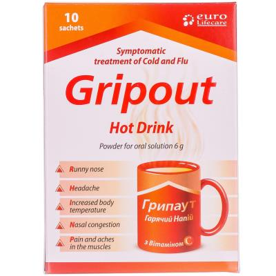 Грипаут горячий напиток инструкция и цена в аптеках