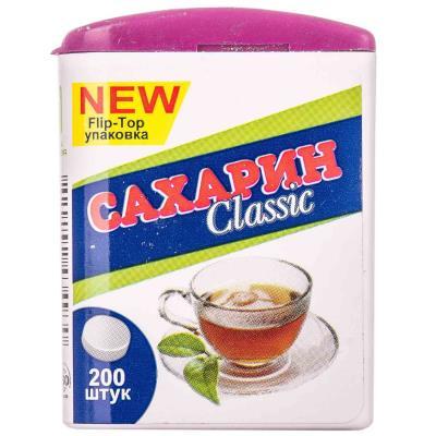 САХАРИН CLASSIK FLIP-TOP таблетки по 0.1 г №200 в бан.