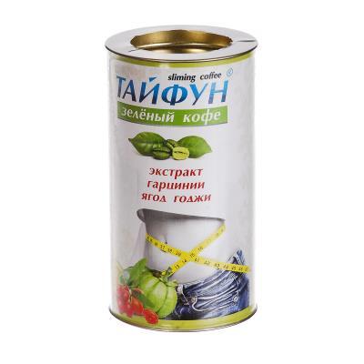 ТАЙФУН кофе зеленый с Гарцинией и ягодами Годжи по 100 г в бан.