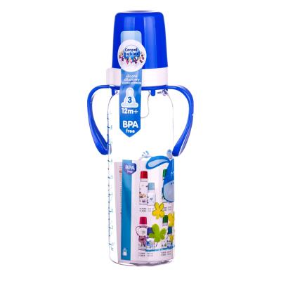 CANPOL бутылочка д/кормления пластик. с рисунк. Цветная ферма BPA FREE от 12 месяцев по 250 мл 11/845