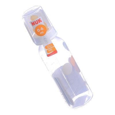 NUK бутылочка д/кормления пластик. антиколик. с соскою латекс. р. 1 с рождения по 240 мл