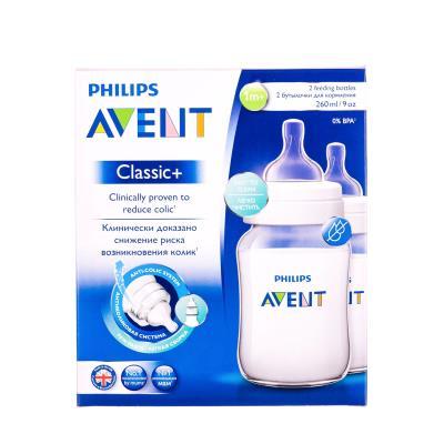 AVENT CLASSIC + бутылочка д/кормления пластик. антиколик. с 2 месяцев по 260 мл №2