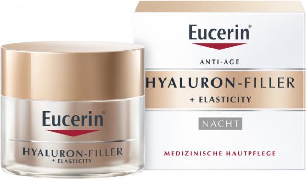 EUCERIN HYALURON FILLER + ELASTICITY крем д/лица п/морщин антивозраст. ночн. по 50 мл в бан.