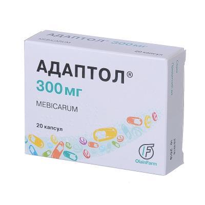 Адаптол капсулы по 300 мг №20 (10х2)