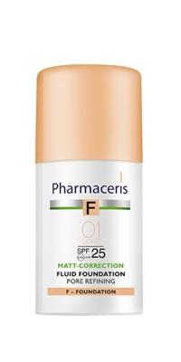 Флюид Pharmaceris F матирующий, сужающий поры, тон 01 слоновая кость , SPF 25, 30 мл