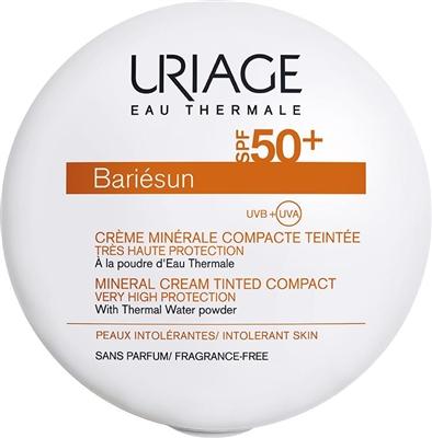 Крем-пудра солнцезащитная Uriage Bariesun минеральная, тон светлый, SPF 50+, 10 г