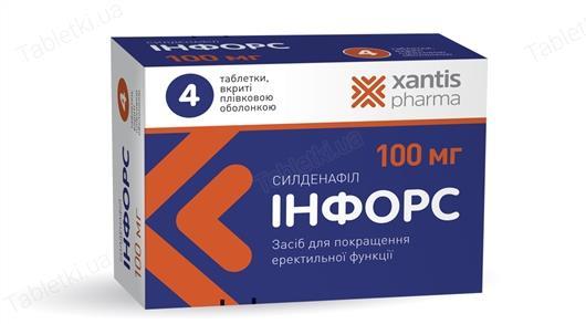 Инфорс таблетки, п/плен. обол. по 50 мг №8 (4х2)