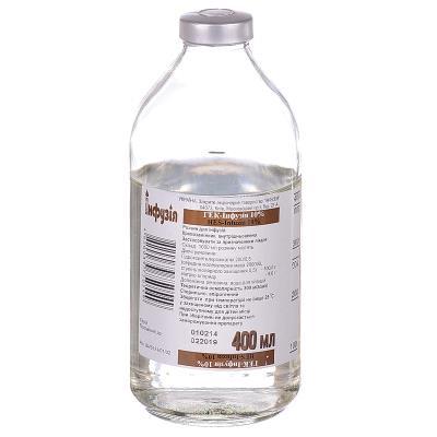 Гек-инфузия 10% раствор д/инф. 10 % по 400 мл в бутыл.