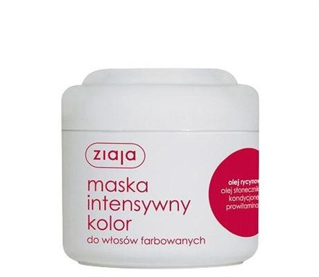 """Маска для волос Ziaja Интенсивный уход с касторовым маслом """"Интенсивный цвет"""", 200 мл"""