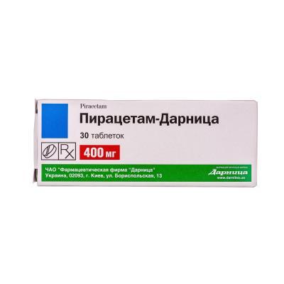 Пирацетам-Дарница таблетки по 400 мг №30 (10х3)