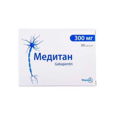 Медитан капсулы по 300 мг №30 (10х3)