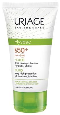 Флюид солнцезащитный Uriage Hyseac для лица, SPF 50+, 50 мл