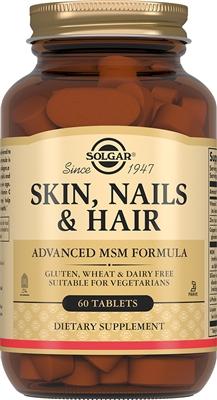 Solgar Таблетки для кожи, волос и ногтей, 60 таблеток