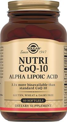 Solgar Нутрикоэнзим Q10 с альфа-липоевой кислотой, 60 капсул