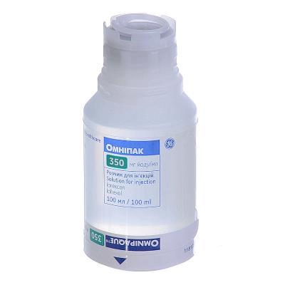Омнипак раствор д/ин. 350 мг йода/мл по 50 мл №10 во флак. полипроп.