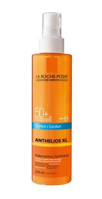 Масло для лица и тела солнцезащитное La Roche-Posay Anthelios питательное, SPF 50+, 200мл