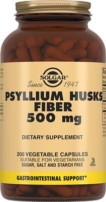 Solgar Псилиум, клетчатка кожицы листа 500 мг, 200 капсул
