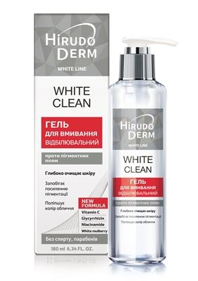Гель для умывания Hirudo Derm White Line White Expert отбеливающий, 180 мл