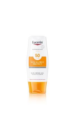 Крем-гель солнцезащитный Eucerin Sun Allergy Protect для лица и тела, SPF 50, 150 мл