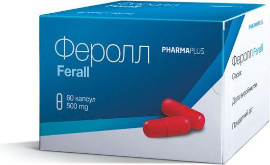 ФЕРОЛЛ капсулы по 500 мг №60 (6х10)