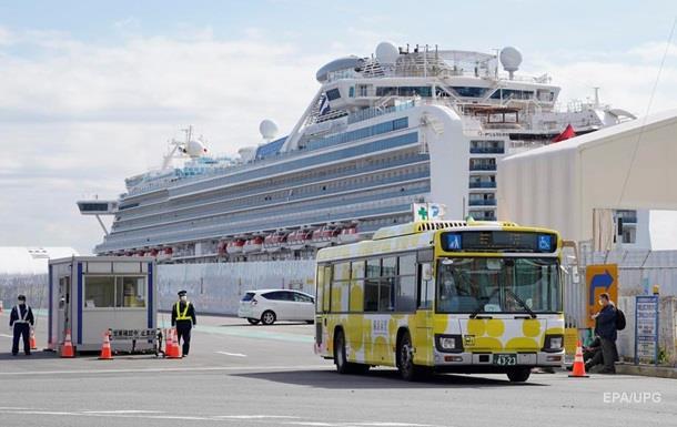 С пораженного коравирусом лайнера Diamond Princess высадили 500 пассажиров