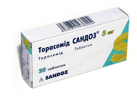 Торасемид Сандоз таблетки по 5 мг №20 (10х2)