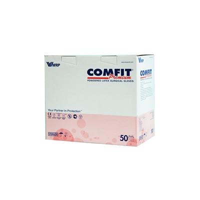 Перчатки хирургические Comfit Premium латексные с пудрой, размер 7,5 стерильные, пара