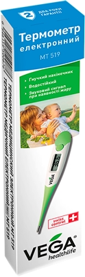Термометр медицинский Vega МТ-519 цифровой с гибким наконечником