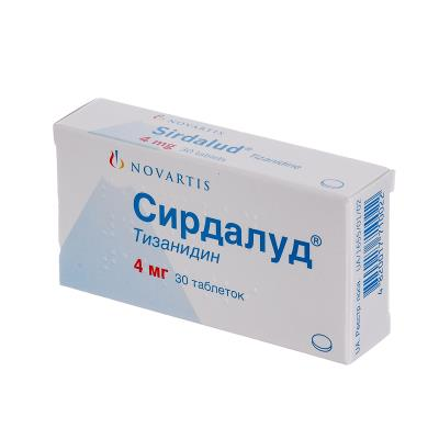 Сирдалуд таблетки по 4 мг №30 (10х3)