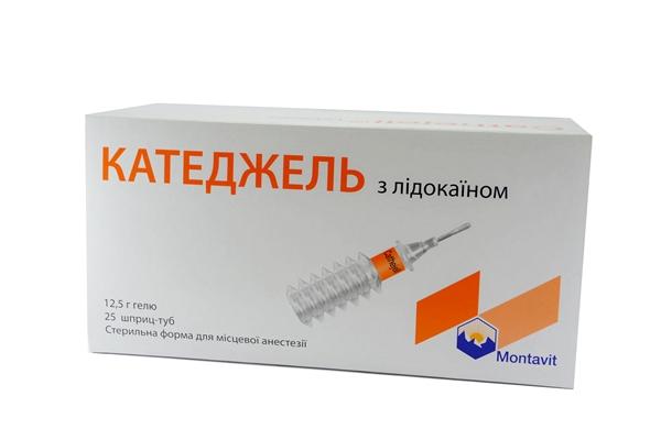 Катеджель с лидокаином гель по 12.5 г №25 в шпр.-тубах