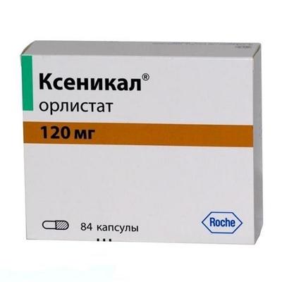 Ксеникал капсулы по 120 мг №84 (21х4)