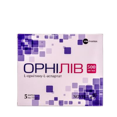 Орнилив концентрат для р-ра д/инф. 500 мг/мл по 10 мл №5 в амп.