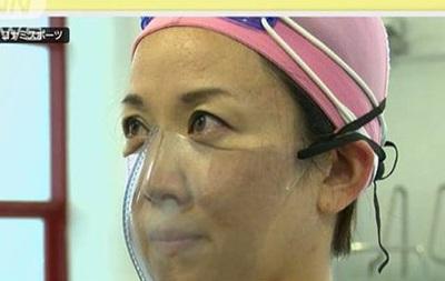 Японские инженеры, в эпоху коронавируса, разработали маску для бассейна