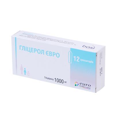 Глицерол евро суппозитории рект. по 1000 мг №12 (6х2)