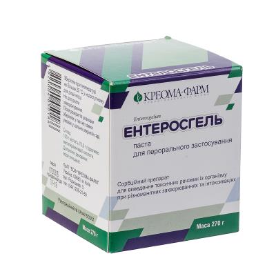 Энтеросгель паста д/перор. прим. 70 г/100 г по 270 г в конт.