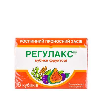 Регулакс кубики фруктовые №6