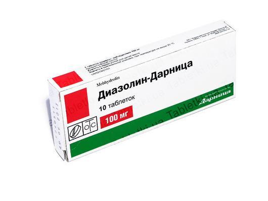 Диазолин-Дарница таблетки по 100 мг №10