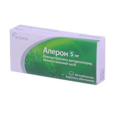 Алерон таблетки, п/о по 5 мг №30 (10х3)