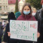 В Луцке протестуют против превращения роддома в госпиталь СOVID