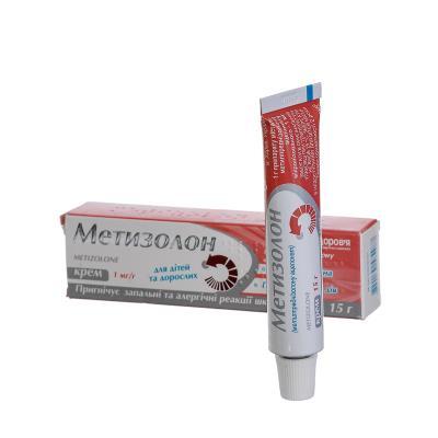 Метизолон крем д/наруж. прим. 1 мг/г по 15 г в тубах