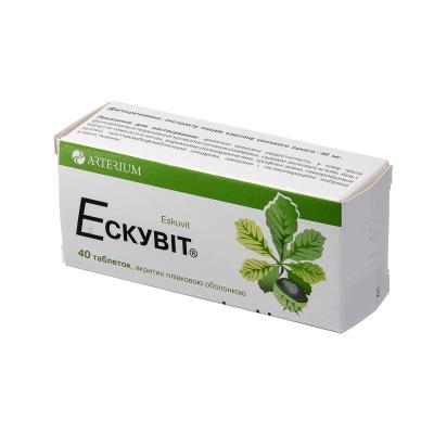 Эскувит таблетки, п/плен. обол. по 40 мг №40 (10х4)