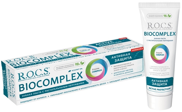 Зубная паста R.O.C.S. Biocomplex Активная защита, 94 г