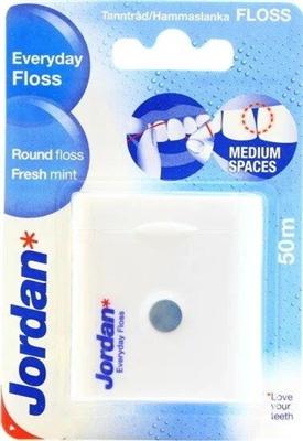 Нить-флосс зубная Jordan Everyday с фтором и мятой 50 м+10 м