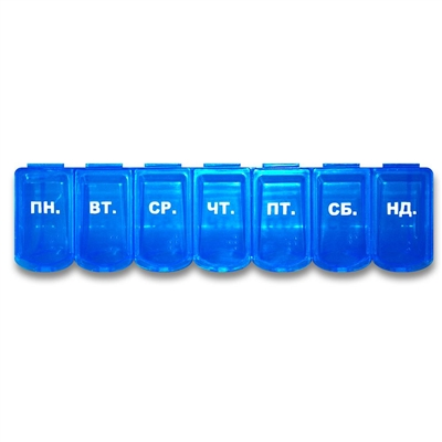 Органайзер пластиковый Enjee XLN-209 M для таблеток Линейка 7 дней