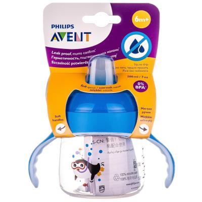 AVENT чашка-непроливайка с мягким носиком/ручками с 6 месяцев по 200 мл SCF 751/00
