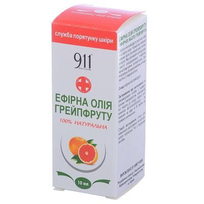 911 масло эфирное Грейпфрут по 10 мл во флак.