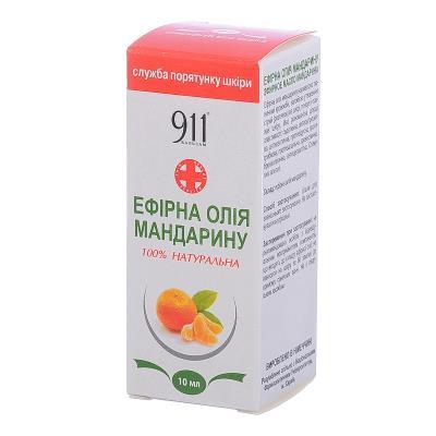 911 масло эфирное Мандарин по 10 мл во флак.
